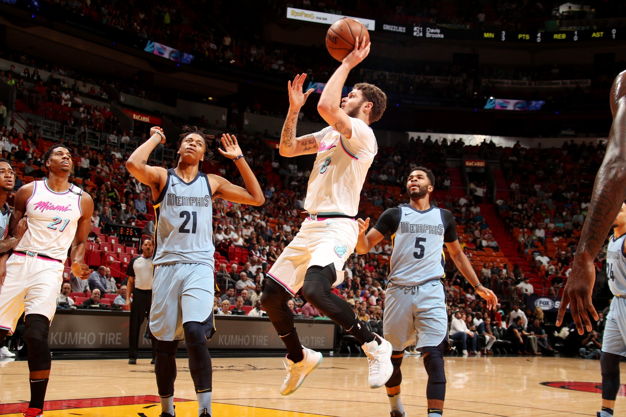 Tyler Johnson scores a game-high 23 PTS as the @MiamiHEAT grab the win!  #HEATCulture 115 / #GrindCity 89 https://t.co/Q3LunkkNNw