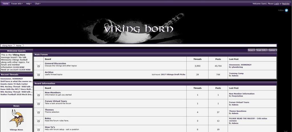 Join the Viking Horn Community https://t.co/aMz2aiVN2C #proboards #Skol #Vikings #GoPackGo #OnePride #DaBears #NFL https://t.co/accKbB5kAS