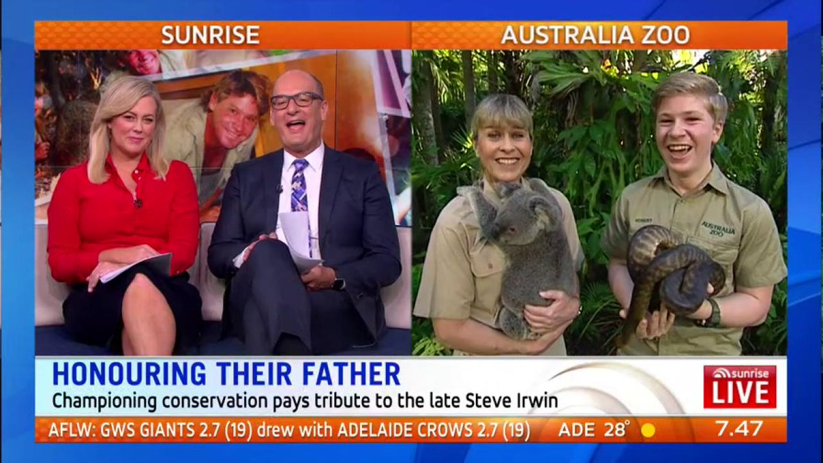 RT @sunriseon7: With their new TV show, Bindi and Terri Irwin are achieving Steve's life-long dream. ❤️ https://t.co/5O1d1UFsw3