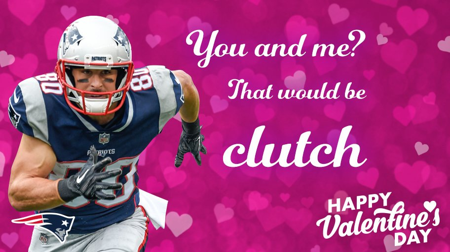 You and me? That would be clutch.  More #Patriots Valentines: https://t.co/nIRzJDwovj https://t.co/BACo8K3DI9
