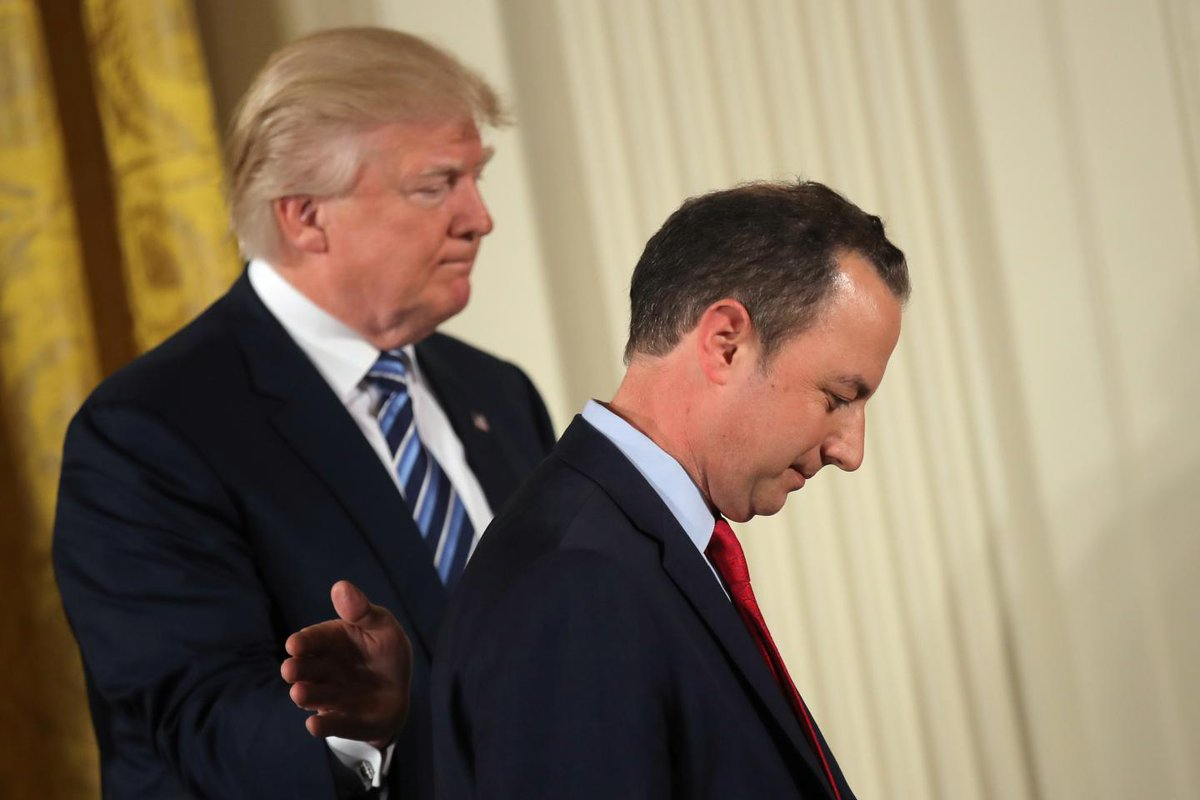 """Raging Trump called inauguration crowd numbers """"bullshit,"""" says Reince Priebus in new book"""