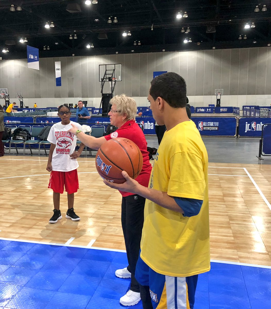 We are cheering for you tomorrow! RT @SpecialOlympics: Jasmine, @soflinfo, & Chris, @721M_CityHawks, starting on a new shooting drill. #NBAAllStar #PlayUnified https://t.co/KTkh6XXYbk