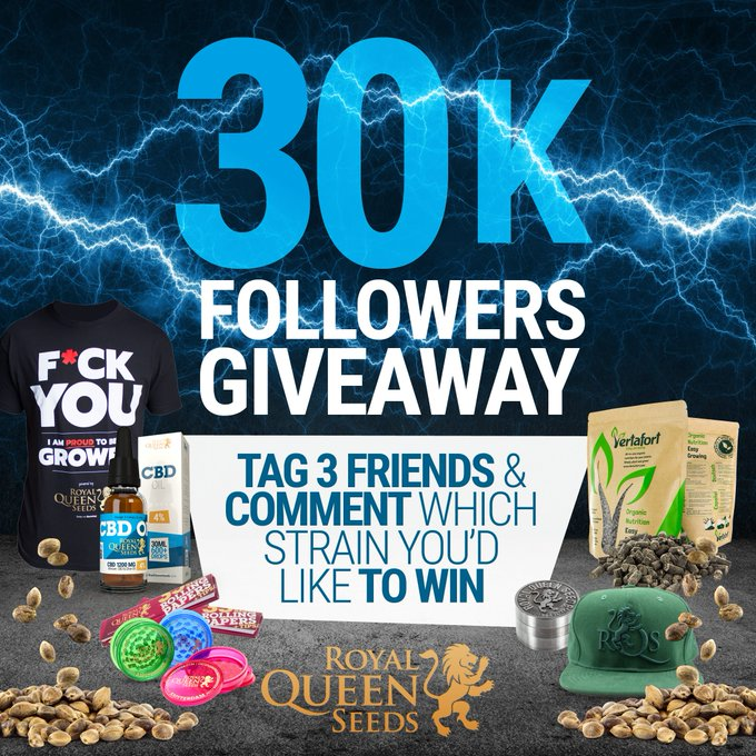 """Royal Queen Seeds on Instagram: """"#Giveaway time! 🤘🏻🔝 Do you want to be the winner?  1"""