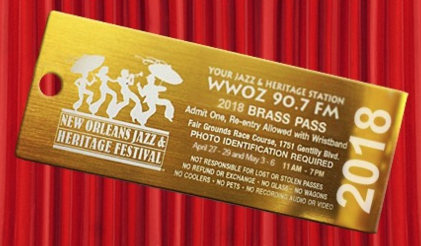 Want to Win 2 Brass Passes to Jazz Fest 2018 ?!? Enter now!   #JazzFest #BrassPass  https://t.co/VAVJ8NKWdF https://t.co/2bJGDg4fOP