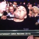 RT : VIDEO: Nate Diaz nearly lights up...