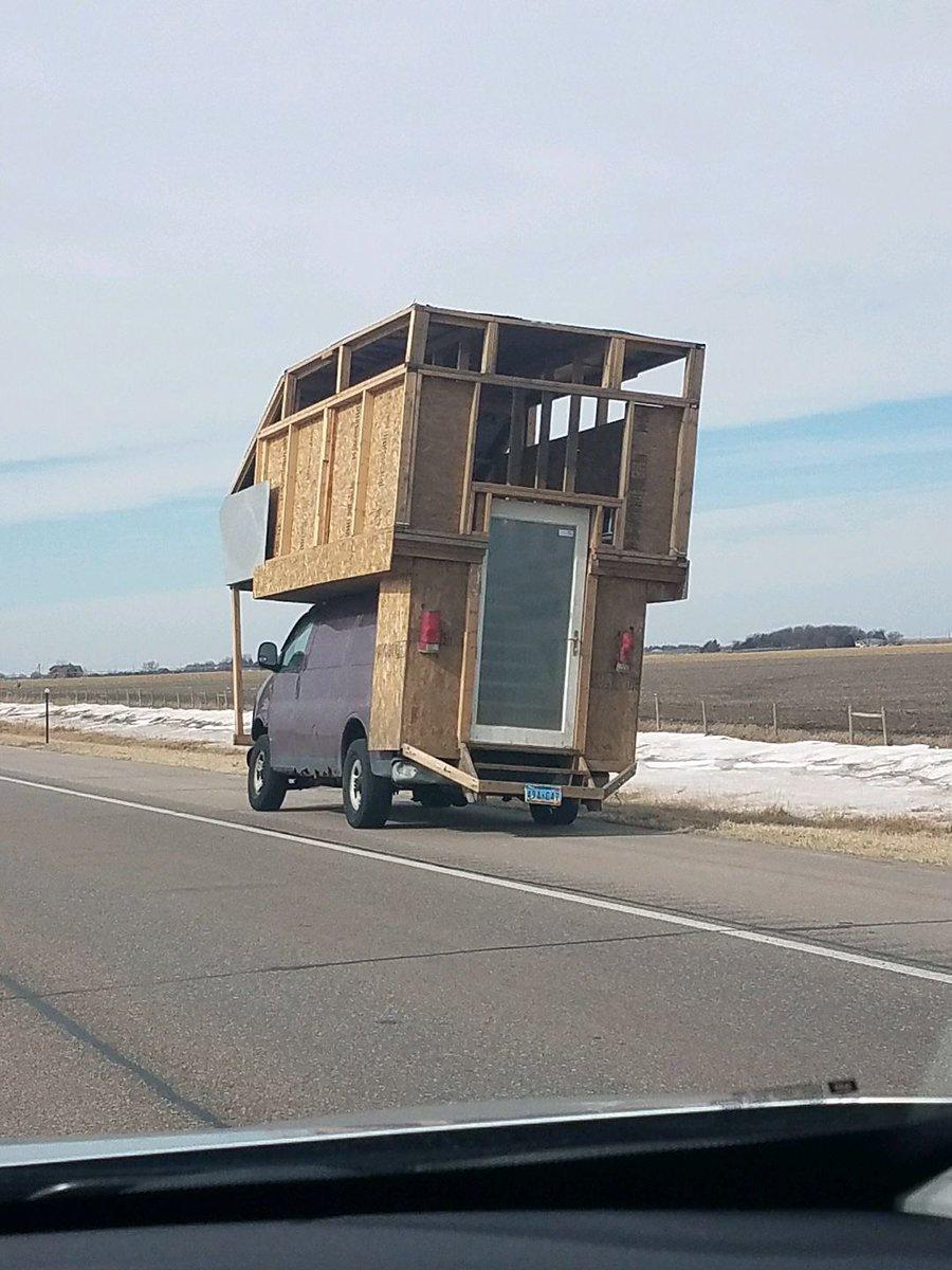 Odd-looking van turns heads, draws attention from state trooper on I-80 in Nebraska