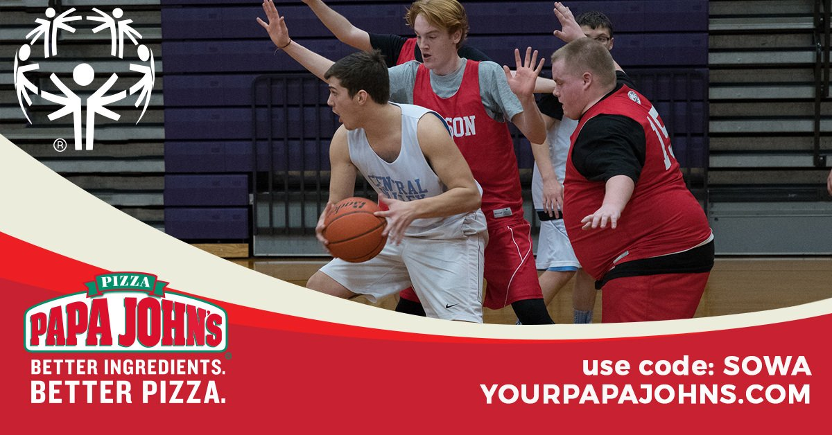 """Hey Tri-Cities, now though March 4th you can eat pizza AND help Special Olympics at the same time! Just enter the promo code """"SOWA"""" at https://t.co/Em3rVRjJSl and 20% of your order will go to support our inspiring athletes. @yourpapajohns. https://t.co/LGiQ0fNHUL"""
