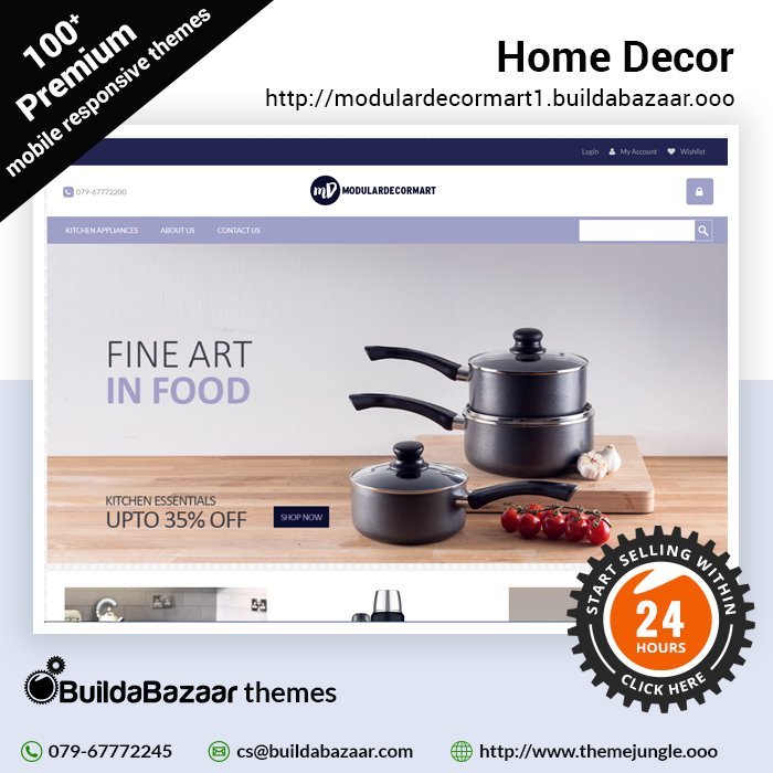 test Twitter Media - Let your customers adorn the beautiful home decors of your store. Set up an online home decor in just 24 hours with #BuildaBazaar and #ThemeJungle. Hurry, get online today! #infibeam  #buildabazaarthemes  #ecomercethemes #websitethemes https://t.co/dlHMWU208f https://t.co/g3Az2EJfGf