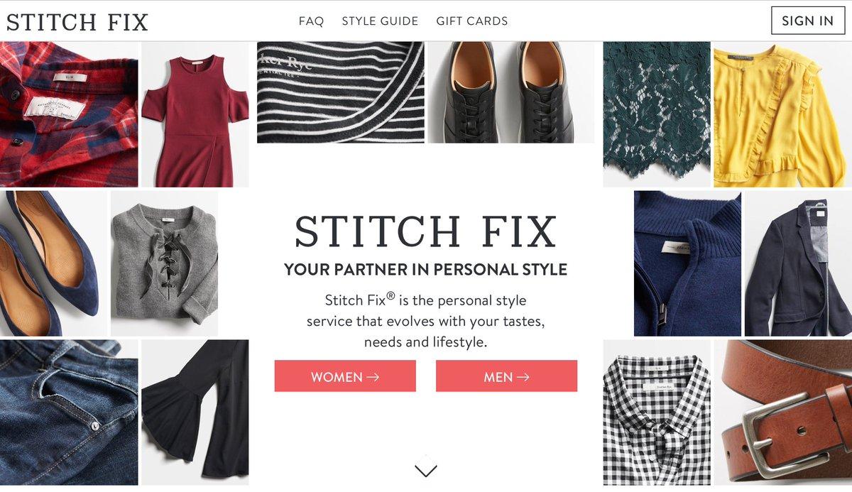 Stitch fix history