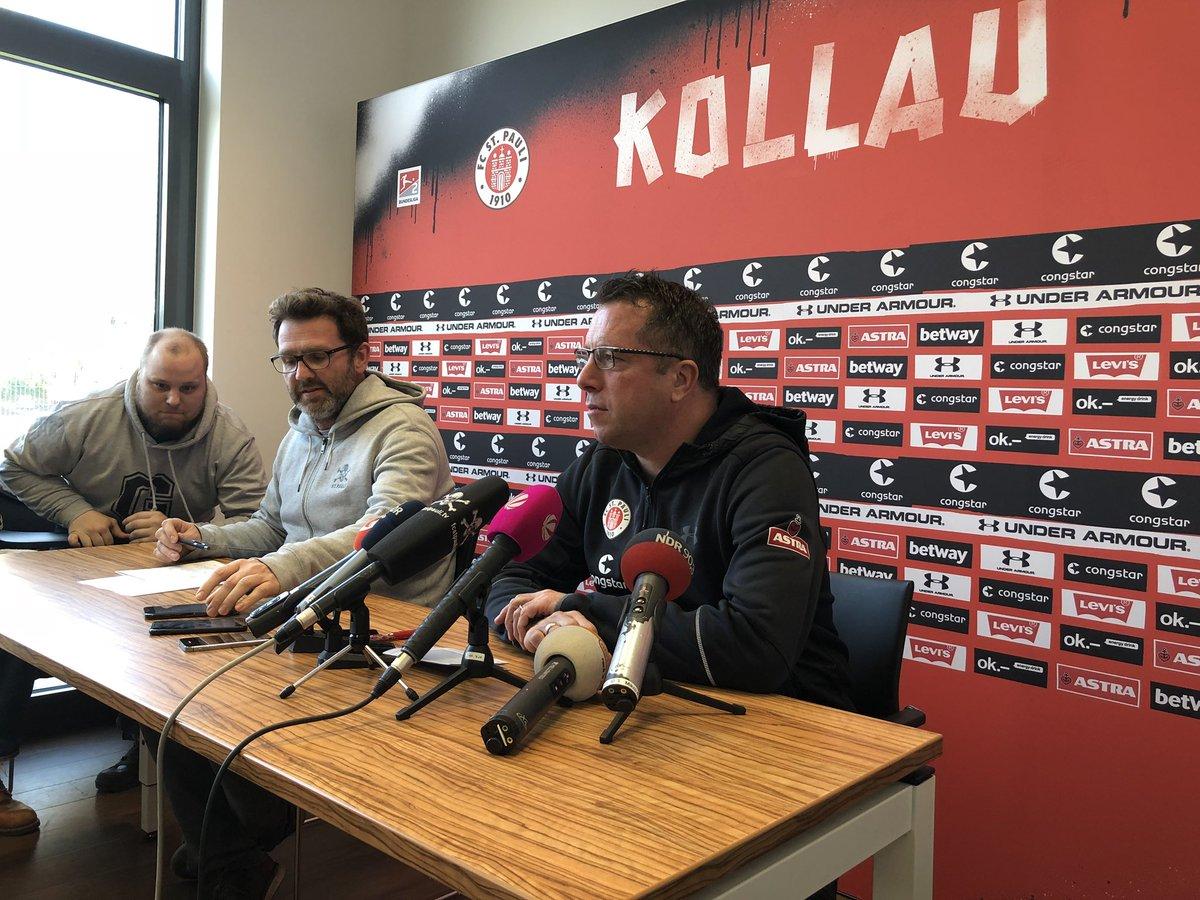 The press conference with head coach Markus #Kauczinski ahead of #fcspksv is under way. #fcsp https://t.co/t1fqG9qA4D
