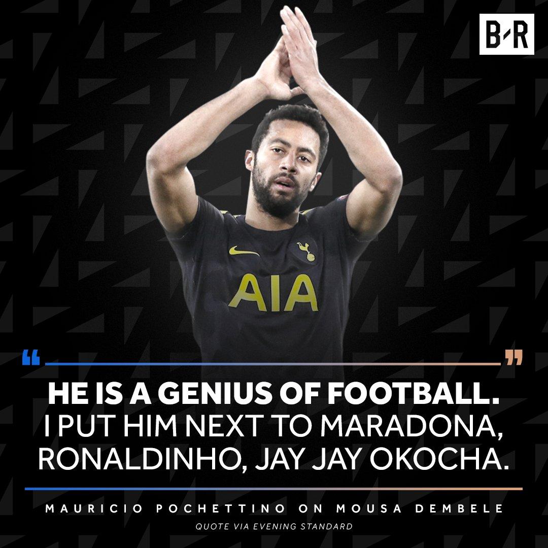 RT @brfootball: Poch has some high praise for Mousa Dembele https://t.co/N8UOdS4ZMA
