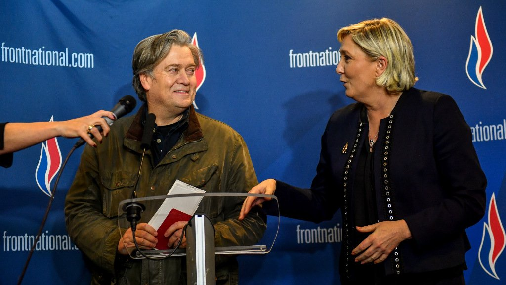 Wear 'racist' like a badge of honour, says Bannon in French populist pep talk
