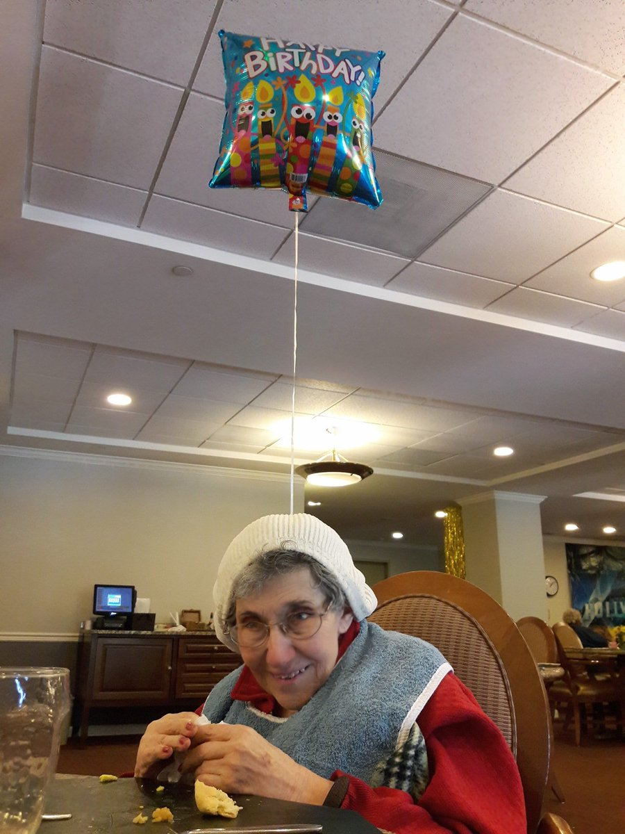 2 pic. My adorable mother Lucille turned 92 today. JKMVa0gSW8