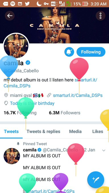 HAPPY BIRTHDAY my beloved CAMILA.. wish all your dream come true.      from Indonesia.