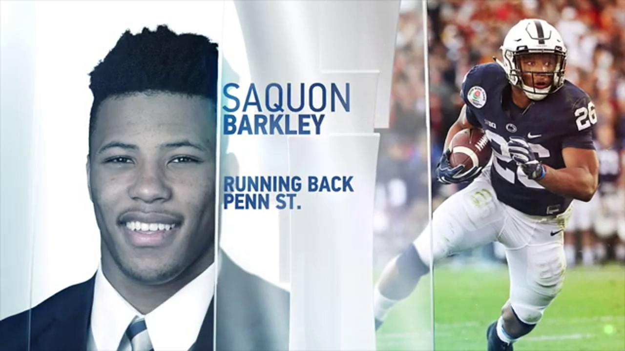 Penn State RB Saquon Barkley put on a show at the #NFLCombine ��  Catch the rest of the Combine on @NFLNetwork https://t.co/5hKSrg4ciN
