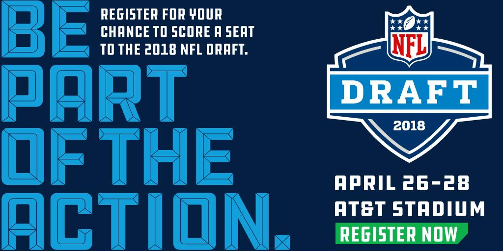 Want to be inside @ATTStadium for the 2018 #NFLDraft?  Don't miss your chance: https://t.co/u8ohXnQy55 https://t.co/DtF3EgZlSr
