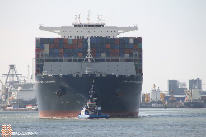 CMA CGM Antoine de Saint Exupery vertrokken https://t.co/y3GkgQNjSi https://t.co/aL2SdRiaUj