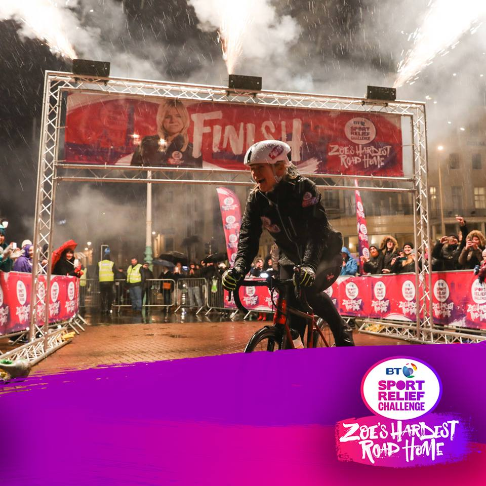 test Twitter Media - .@ZoeTheBall triumphed in a truly amazing & challenging journey, cycling over 350 miles in five days from Blackpool to Brighton. There's still time to donate to #SportRelief to help change lives 👉 https://t.co/lZ45tmpoB7   #HardestRoadHome https://t.co/ONlQxf5vYj