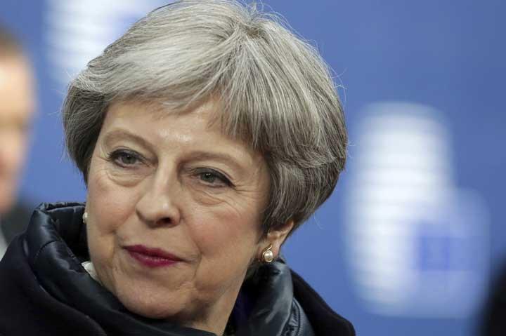 @BroadcastImagem: Tivemos progresso considerável na negociação do Brexit com UE, diz Theresa May. Aris Oikonomou/AP