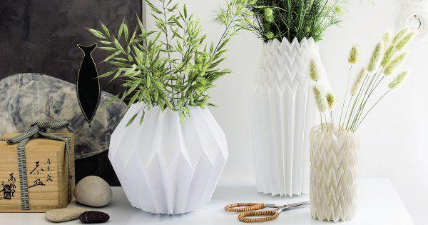 DIY papier: créer des vases en origami