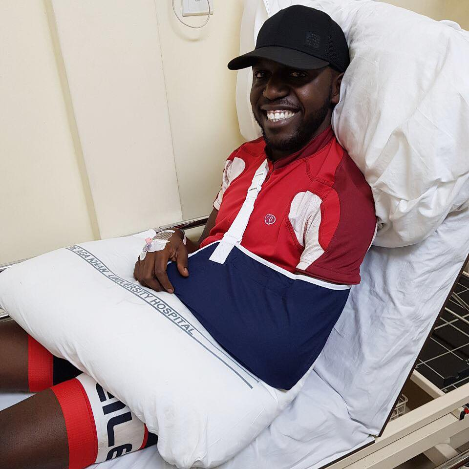 NTV news anchor Larry Madowo nursing injuries after surviving an accident