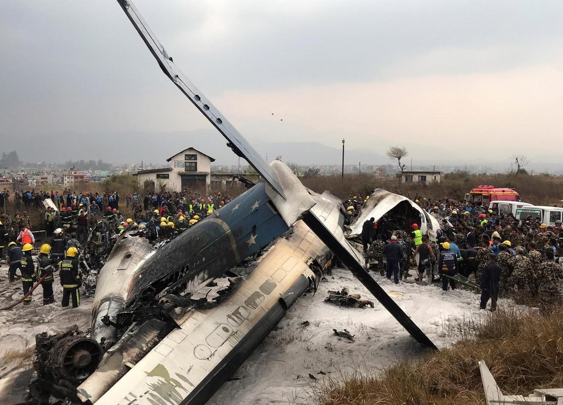 At least 40killed in Kathmandu plane crash