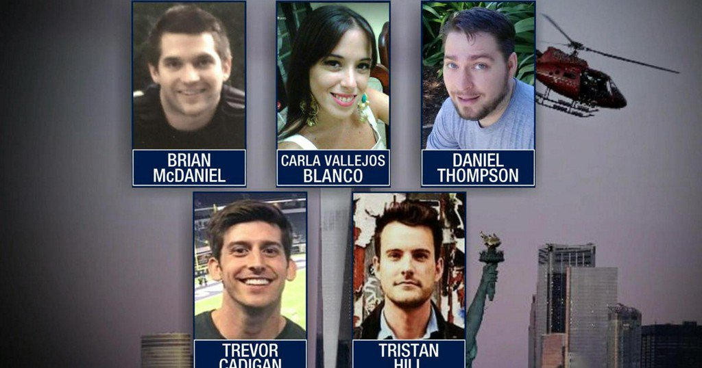 Authorities identify 5 victims killed in NYC helicopter crash