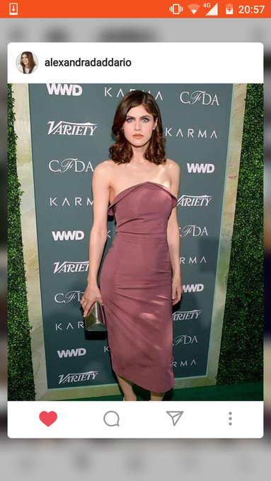 Happy birthday to Alexandra Daddario,my queen.