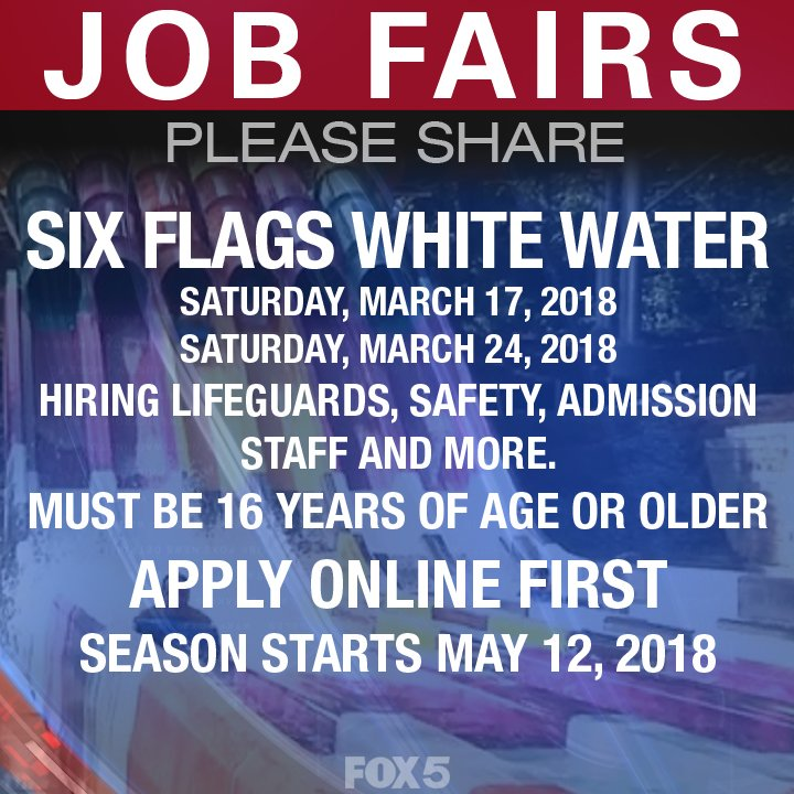 do you or your kid need a summer job six flags white