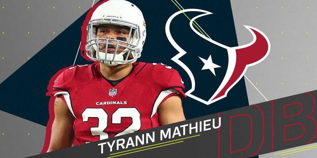 .@HoustonTexans expected to sign Tyrann Mathieu (@Mathieu_Era): https://t.co/FKsumn3lgo https://t.co/Q1LNHdyuwe