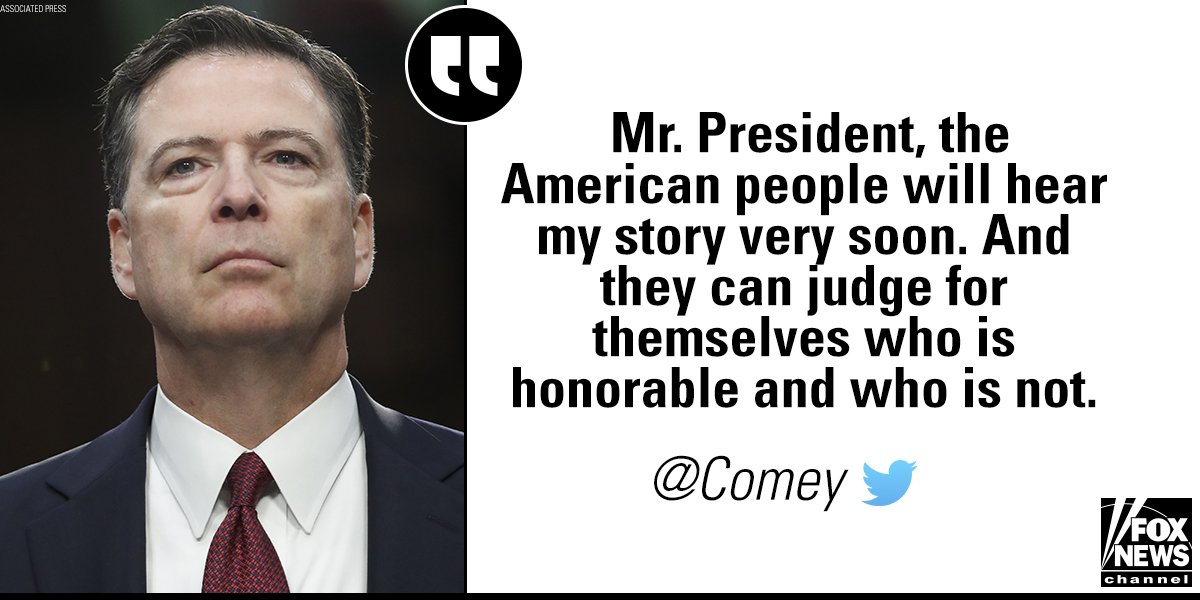 Earlier today, former @FBI Director James @Comey tweeted an ominous message to President @realDonaldTrump. https://t.co/qPlGNOYd6d