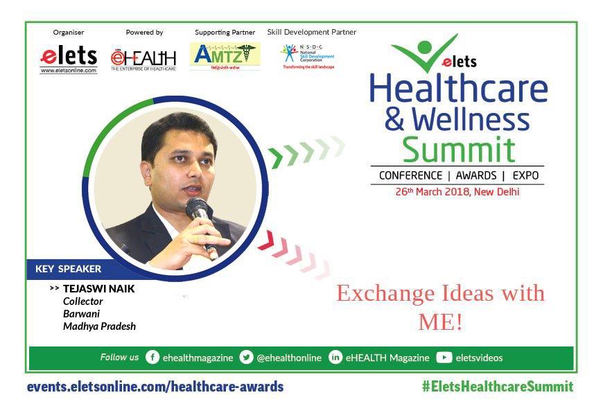 test Twitter Media - #Elets #Healthcare & #Wellness #summit2018 welcomes Tejaswi Naik, #Collector, Barwani, Madhya Pradesh as Key Speaker. For details, visit: https://t.co/jYBX7iVIxo @ravigupta1000 @SAVDAGREAT https://t.co/n05ZecLrAG