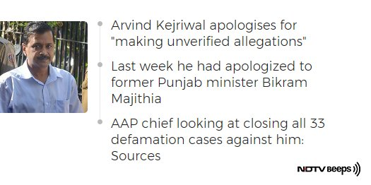 Arvind Kejriwal Apologises To Nitin Gadkari, They Jointly Appeal To End Case https://t.co/u83JVMxvoF #NDTVNewsBeeps https://t.co/zgdRK0hyGa