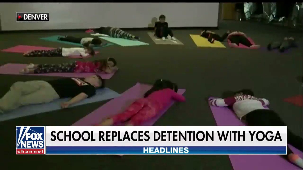 School replaces detention with yoga @foxandfriends https://t.co/qvTaaiWIhU