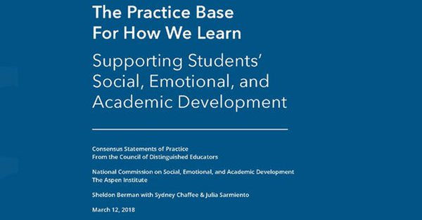 """test Twitter Media - National Commission on Social, Emotional, and Academic Development's important new report: """"The Practice Base for How We Learn"""" https://t.co/4mjfp2MM1e https://t.co/OhTIgnWpKk"""