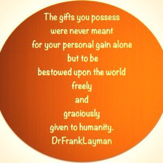 The Gift.  #DrFrankLayman #Win https://t.co/csEh4dWxqa #TuesdayThoughts https://t.co/gqX0Ffh6si