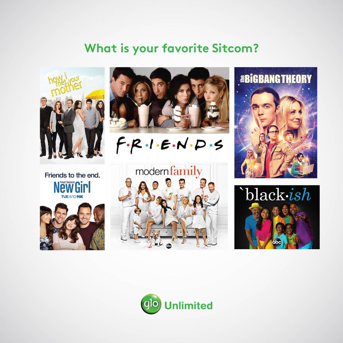 test Twitter Media - What is your favourite sitcom? • HIMYM • Friends • The Big Bang Theory • Blackish • Others, share in the comments👇🏾 #MovieFriday https://t.co/75llVIA5th