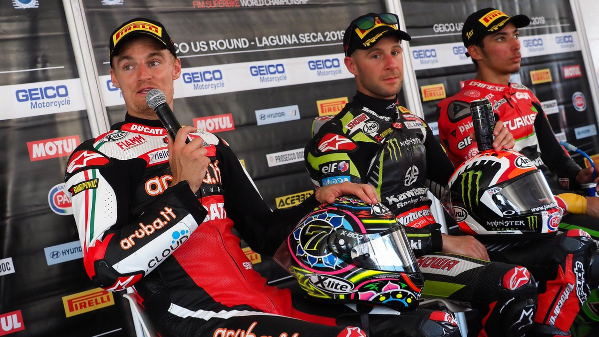 test Twitter Media - 💬In discussion: the top quotes from Laguna Seca!  After plenty of drama on track at Laguna Seca, what did the leading protagonists say after the racing had finished and the dust had settled?  #USAWorldSBK 🇺🇸  📃 | #WorldSBK  https://t.co/dd8j3utecb https://t.co/gVRKa7mD4R