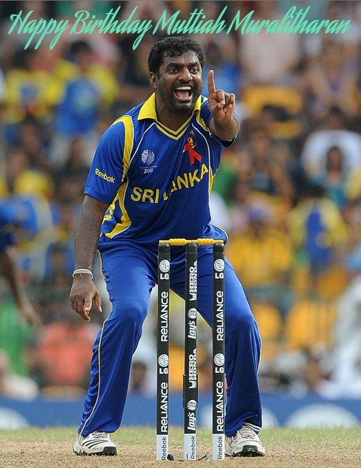 Happy Birthday to the most promising spinner for Sri Lanka, legendary Muttiah Muralitharan.