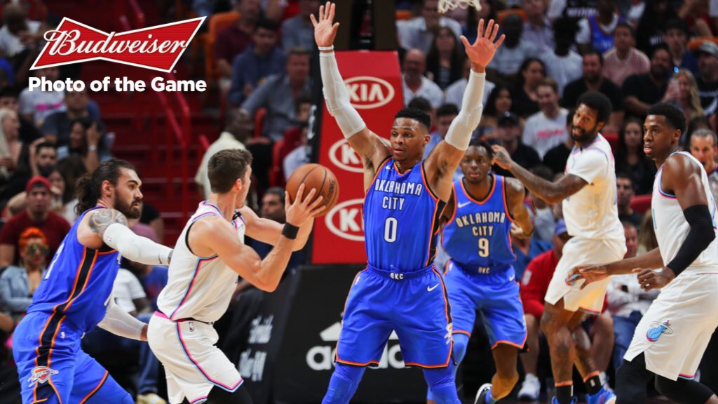 Thunder makes Playoffs for 8th time in 9 seasons.  Only 1 other team had done it more since 2010. #ThunderUp https://t.co/6SkaRUC5Yf