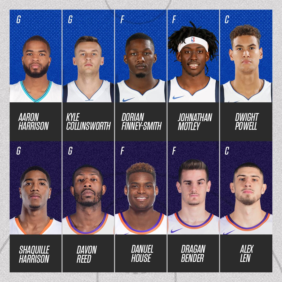 These were the starters in the Mavericks-Suns game tonight. �� https://t.co/bnqbhTgjma
