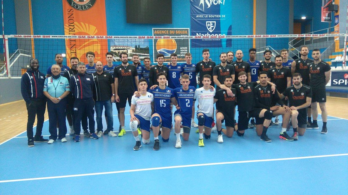 En match amical victoire des #Centurions @LNVofficiel vs #FranceU20 @FFvolley...