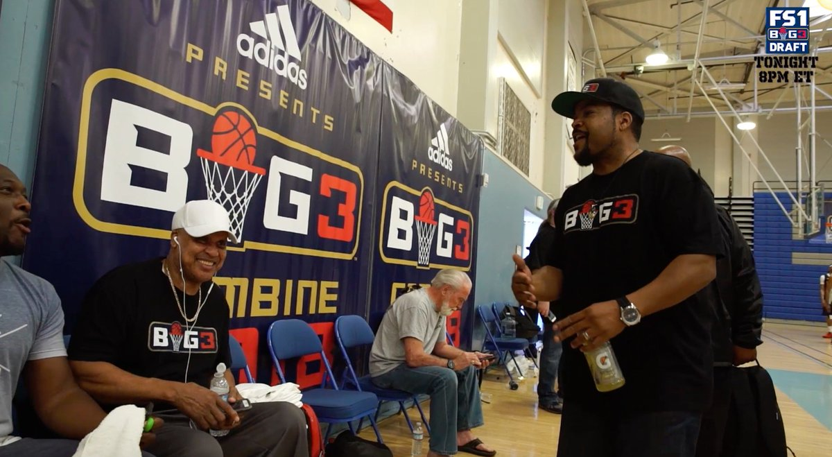 T-minus 1 hour until @thebig3 Draft airs LIVE on @fs1. Be sure to tune in starting at 8pm EST. https://t.co/y46StLGHVY