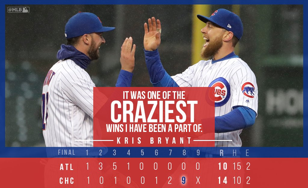 And you know @KrisBryant_23's been in some crazy games before … https://t.co/bFwVIUmi3X