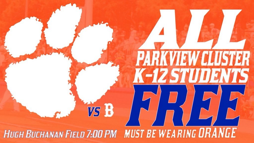Parkview vs. Brookwood tomorrow at The Buch, 7:00.....BE THERE!!! https://t.co/7mFXgUnx1y