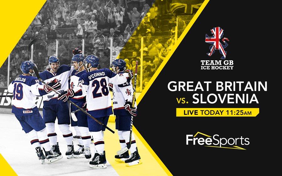 RT @FreeSportsUK: GB Vs Slovenia #LIVE today at 11:25AM 🏒🇬🇧  #TeamGB @TeamGBicehockey https://t.co/hYVs5cMovC