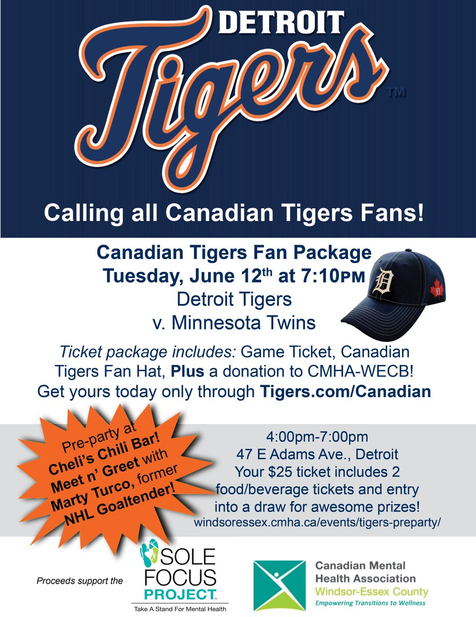 test Twitter Media - @mturco35 we are looking forward to you throwing out the first pitch @tigers Canadian Fan Night game June 12. Purchase your tickets today! #showyoursole #mentalhealth #baseball #comericapark #cmhawecb https://t.co/CMrApXVeR3