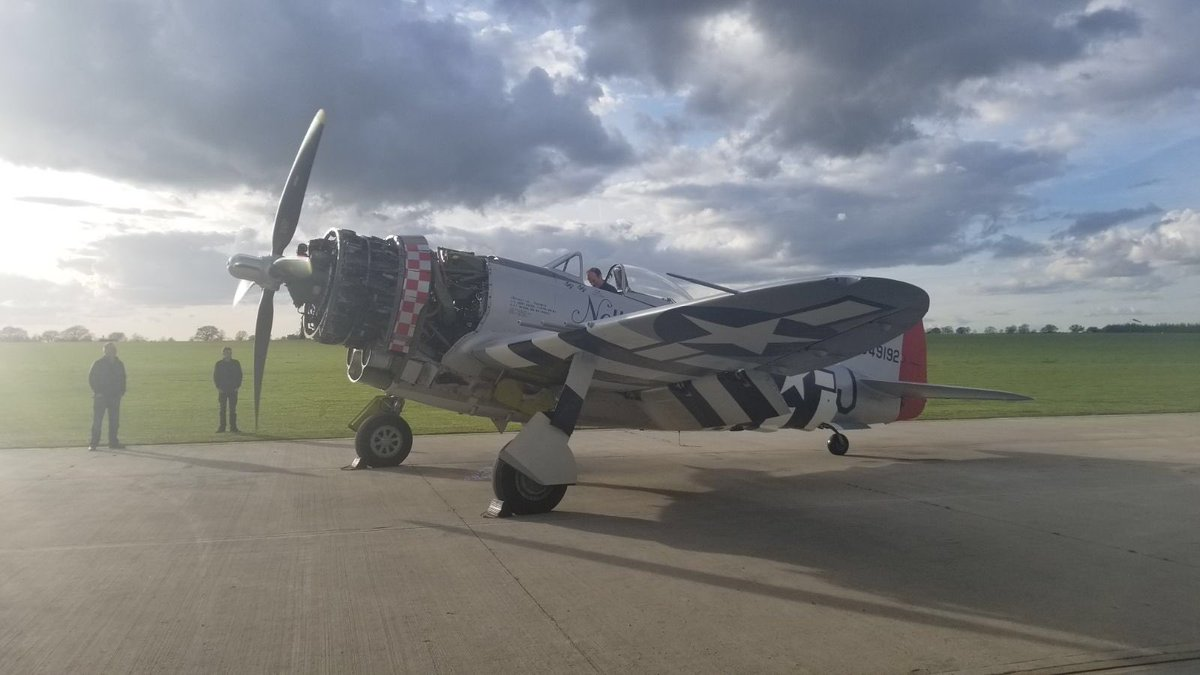 test Twitter Media - A truly astounding achievement again by my incredible team at Air Leasing headed by Richard Grace here doing first engine run this evening on the P47 that arrived in a container 12 days ago inspected/repainted/reassembled - result https://t.co/fBwpEzniGA