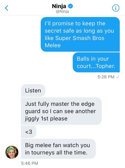 I knew @Ninja was a homie. ❤️ Happy he's growing esports! https://t.co/AvitcwXO4n