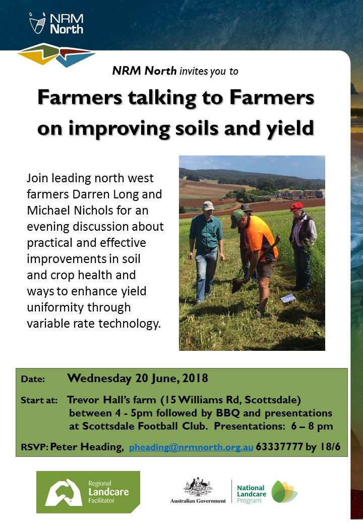 Interested in improving your soils and yield? NRM...